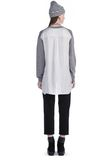 T by ALEXANDER WANG MERINO KNIT PULLOVER WITH VISCOSE COMBO  TOP Adult 8_n_r