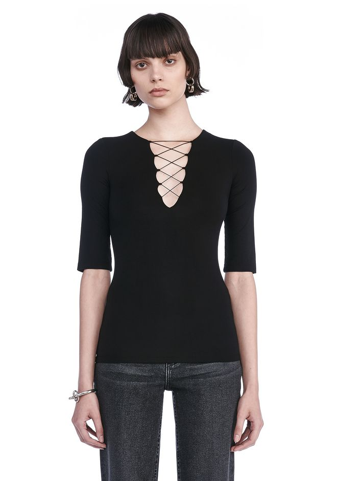 T by ALEXANDER WANG TOPS Women STRAPPY SHORT SLEEVE TOP