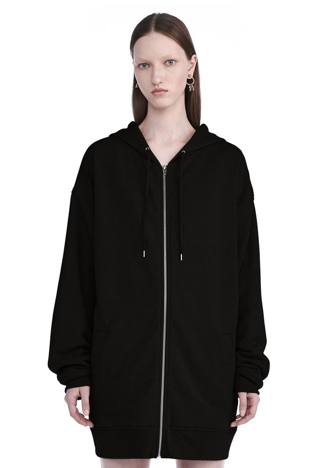 T by ALEXANDER WANG TOPS Women SOFT FRENCH TERRY LONG HOODIE