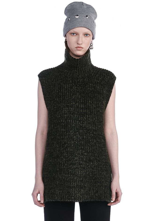 T by ALEXANDER WANG TOPS Women CHUNKY MOHAIR TURTLENECK DICKIE