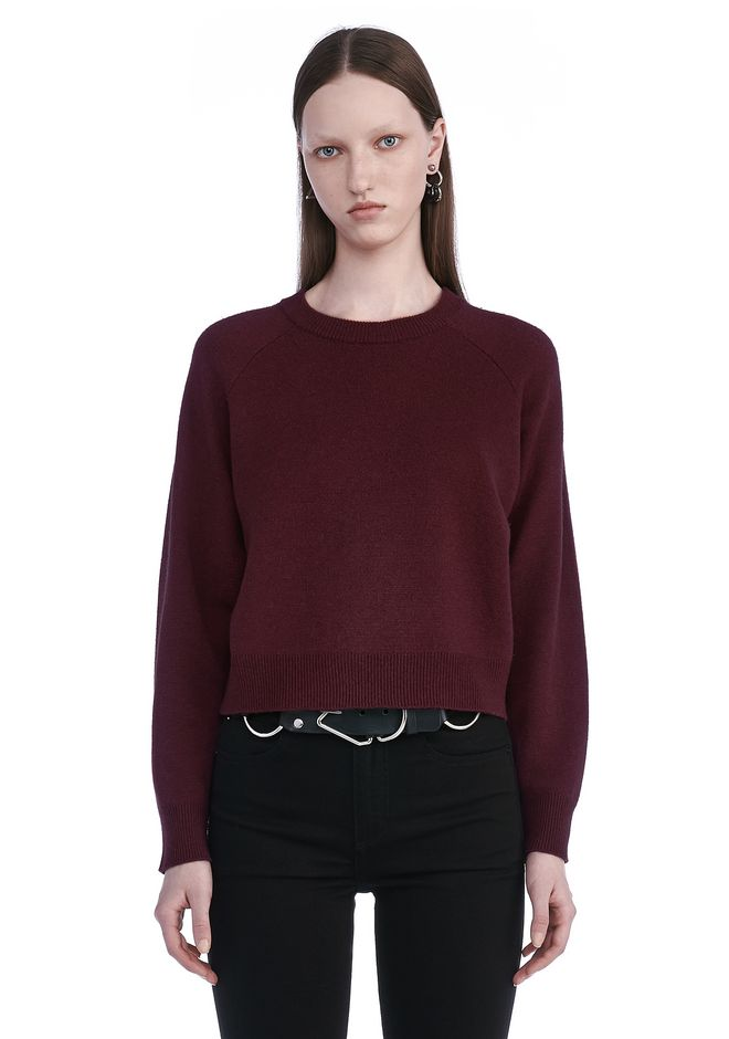 T by ALEXANDER WANG TOPS Women CASHWOOL CROPPED SWEATER