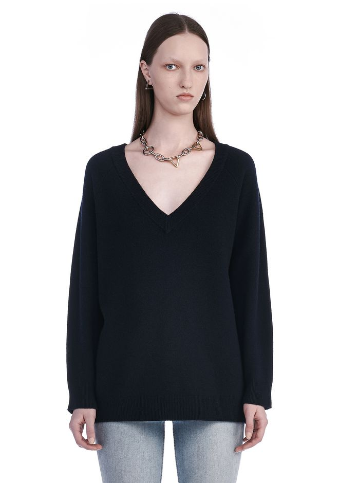 T by ALEXANDER WANG TOPS Women CASHWOOL V-NECK SWEATER