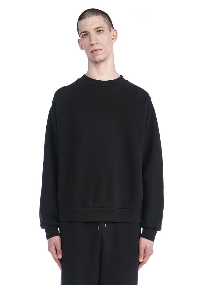 T by ALEXANDER WANG TOPS Men FLEECE OVERSIZED CREWNECK