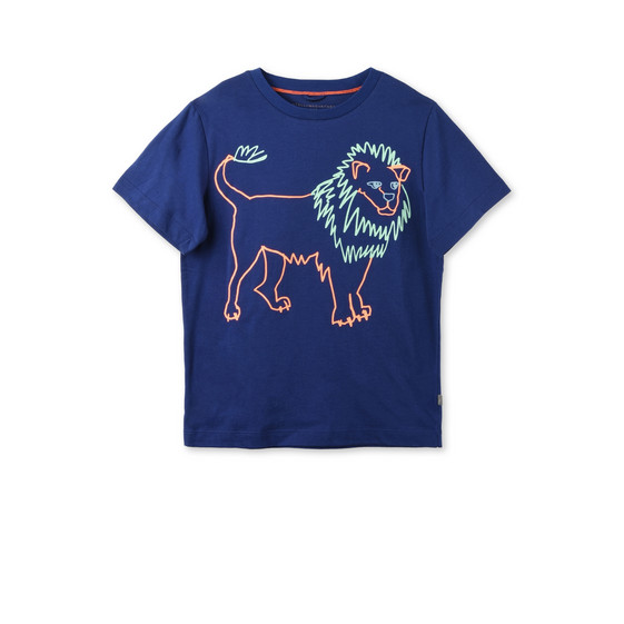 Midnight Arrow Lion Print T-shirt
