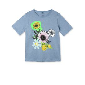 STELLA McCARTNEY KIDS T-Shirts D Blue Graphic Flowers Lolly T-shirt f