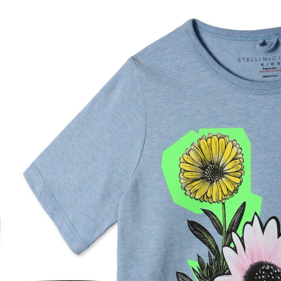 Blue Graphic Flowers Lolly T-shirt