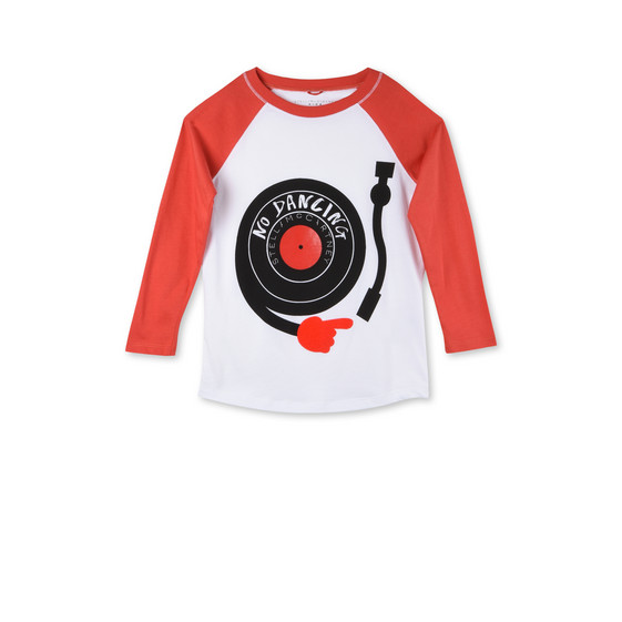 Red No Dancing Print Max T-Shirt