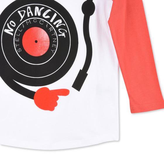 Red No Dancing Print Max T-Shirt