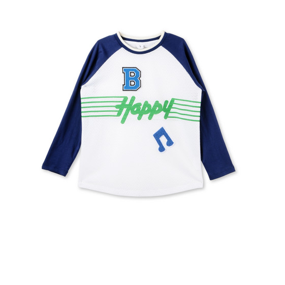 Blue Happy Print Max T-Shirt