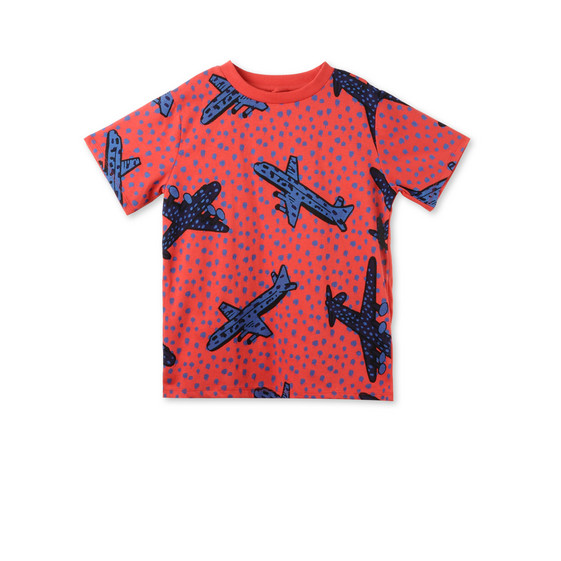 Red Arlo Airplane T-shirt