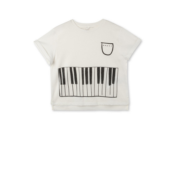 Piano Print Plum T-shirt
