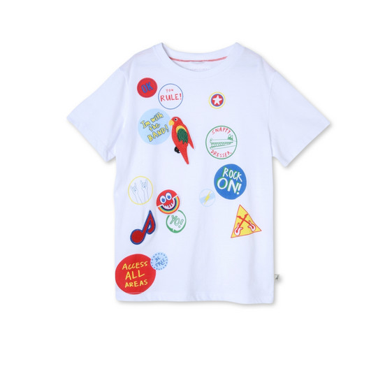 White Arlo Badges T-shirt