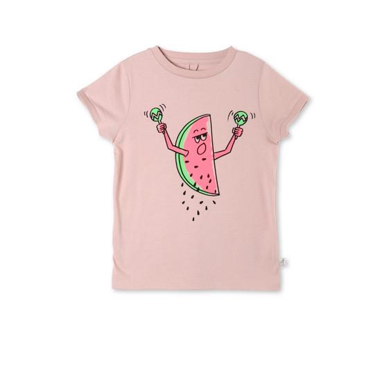 ピンク ウォーターメロン プリント リジー Tシャツ