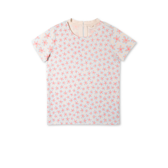 Pink Graphic Flowers Isla T-shirt