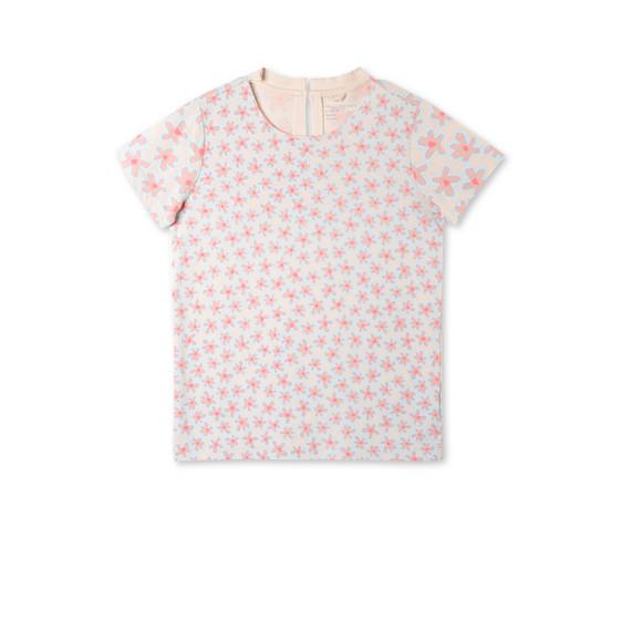 ピンク グラフィック フラワーズ イスラ Tシャツ