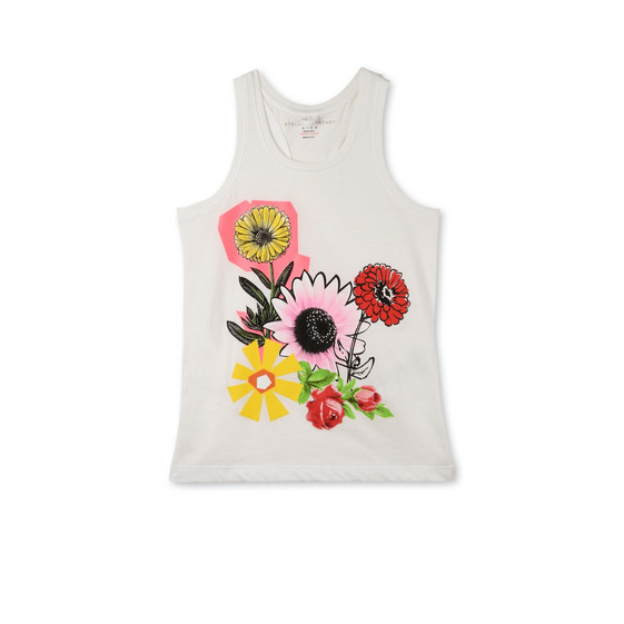Graphic Flowers Valentine Top
