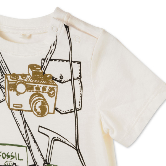 White Explorer Print Chuckle T-shirt