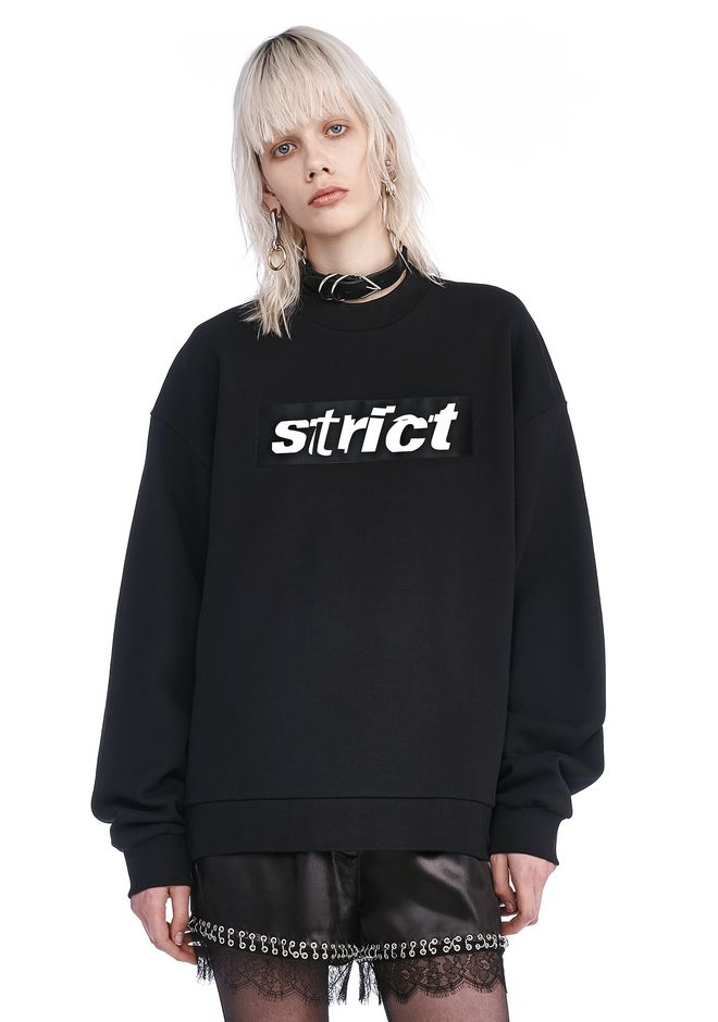 ALEXANDER WANG knitwear-ready-to-wear-woman EXCLUSIVE SWEATSHIRT WITH PATCH