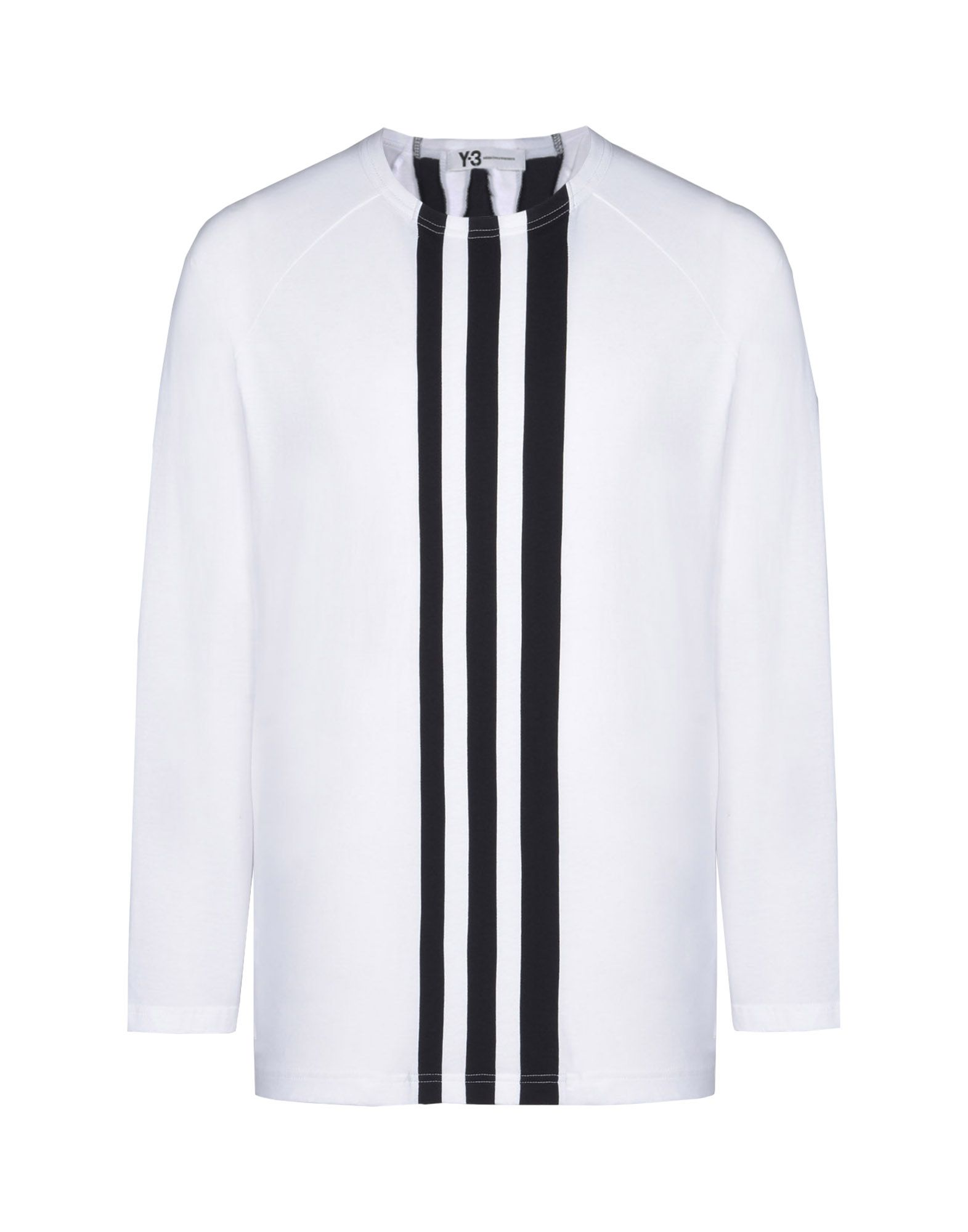 Black t shirt with white stripes - Y 3 3 Stripes Tee Tees Polos Man Y 3 Adidas