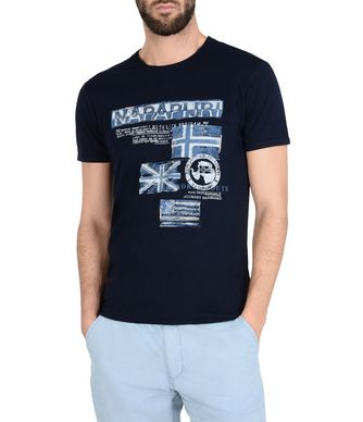 NAPAPIJRI SEPIK MAN SHORT SLEEVE T-SHIRT,DARK BLUE