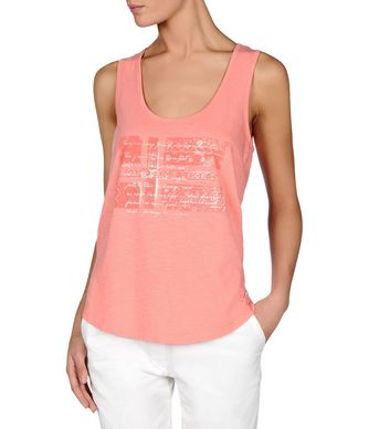 NAPAPIJRI SINT WOMAN SLEEVELESS T-SHIRT,SALMON PINK
