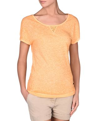 NAPAPIJRI SOLIDAGO WOMAN SHORT SLEEVE T-SHIRT,ORANGE