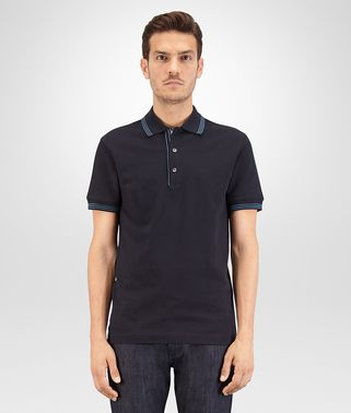 POLO IN DARK NAVY COTTON PIQUET, BRIGHTON DETAILS