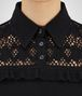 BOTTEGA VENETA SWEATER IN NERO CASHMERE, RUFFLE DETAIL Knitwear or Top or Shirt D ap
