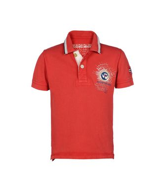 NAPAPIJRI K GANDY NEW KID KID SHORT SLEEVE POLO,RED