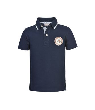 NAPAPIJRI K ELMONTE KID KID SHORT SLEEVE POLO,DARK BLUE