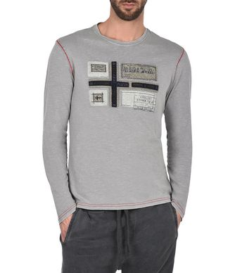NAPAPIJRI SETON MAN LONG SLEEVE T-SHIRT,GREY