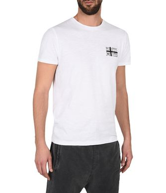 NAPAPIJRI SHERBROOKE MAN SHORT SLEEVE T-SHIRT,WHITE