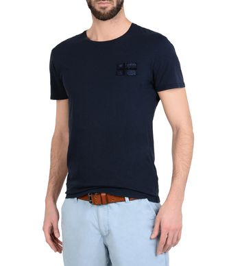 NAPAPIJRI SHERBROOKE MAN SHORT SLEEVE T-SHIRT,DARK BLUE