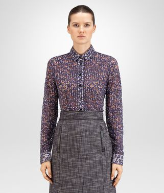 SHIRT IN MIST PACIFIC VIOLET PRINTED LACE