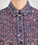 BOTTEGA VENETA SHIRT IN MIST PACIFIC VIOLET PRINTED LACE Knitwear or Top or Shirt D ap