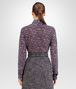 BOTTEGA VENETA SHIRT IN MIST PACIFIC VIOLET PRINTED LACE Knitwear or Top or Shirt D dp