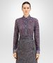 BOTTEGA VENETA SHIRT IN MIST PACIFIC VIOLET PRINTED LACE Knitwear or Top or Shirt D fp