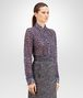 BOTTEGA VENETA SHIRT IN MIST PACIFIC VIOLET PRINTED LACE Knitwear or Top or Shirt D rp