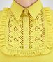 BOTTEGA VENETA SWEATER IN CITRINE CASHMERE, RUFFLE DETAILS Knitwear or Top or Shirt D ap