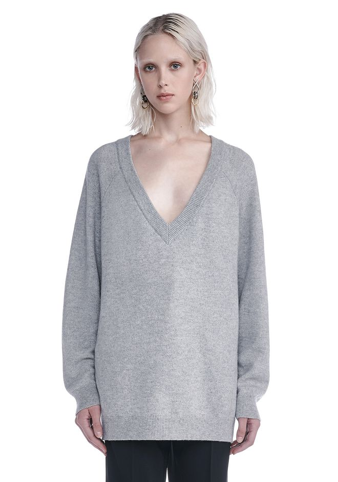T by ALEXANDER WANG knitwear-t-by-alexander-wang-woman CASHWOOL V-NECK SWEATER