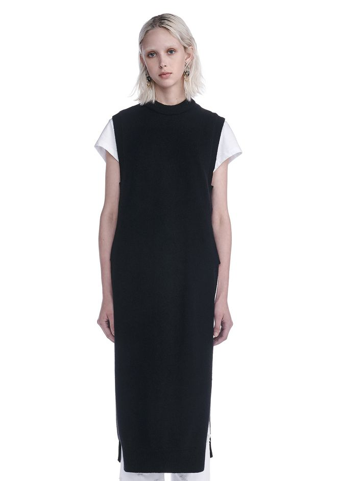 T by ALEXANDER WANG new-arrivals-t-by-alexander-wang-woman CASHWOOL FLOOR LENGTH DICKIE