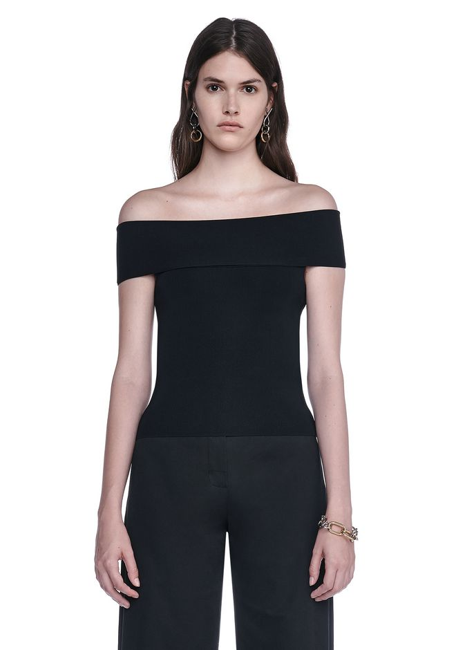 T by ALEXANDER WANG TOPS Women FITTED OFF THE SHOULDER TOP