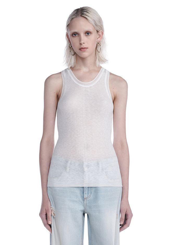 T by ALEXANDER WANG new-arrivals RIBBED SCOOP NECK KNIT TANK
