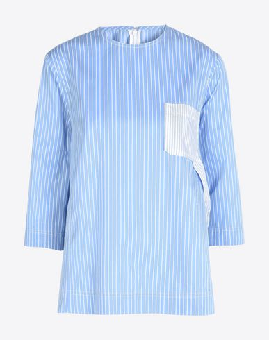 MAISON MARGIELA 1 Top D Striped poplin shirt f