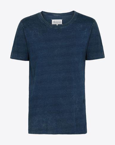 MAISON MARGIELA 10 Short sleeve t-shirt U Indigo jersey tripack of tee-shirts f