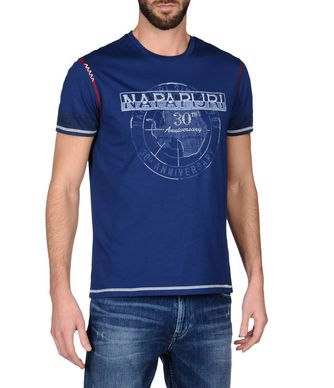 NAPAPIJRI SOIN MAN SHORT SLEEVE T-SHIRT,DARK BLUE