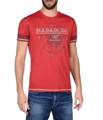 NAPAPIJRI SOIN MAN SHORT SLEEVE T-SHIRT,RED