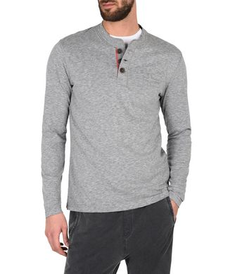 NAPAPIJRI SUDBURY MAN LONG SLEEVE T-SHIRT,GREY