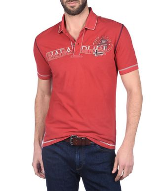 NAPAPIJRI ELMIRA MAN SHORT SLEEVE POLO,RED