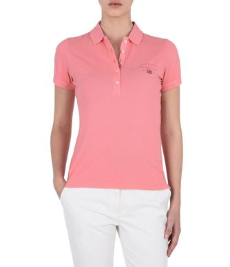 NAPAPIJRI ELMA WOMAN SHORT SLEEVE POLO,PINK